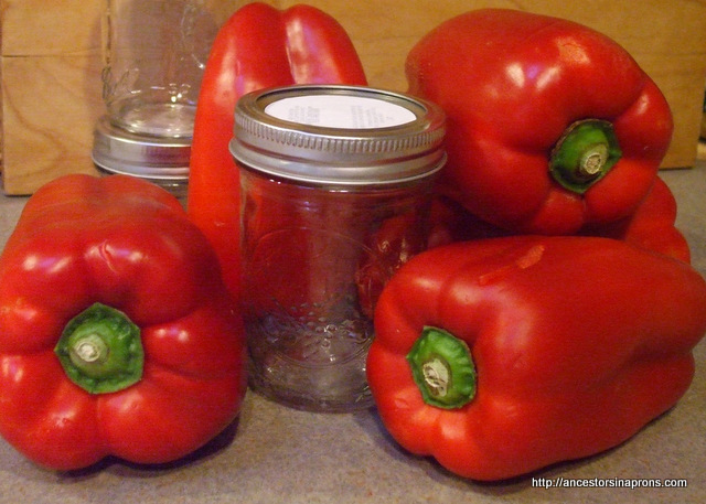 Making Canned Food--Red Peppers