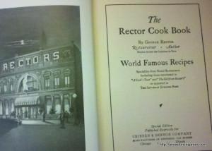 Vintage cookbook: The Rector Cook Book