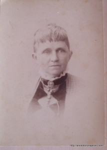 My great-grandmother, Harriett Stout