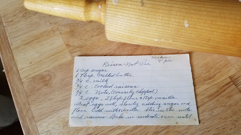 recipe for raisin pie