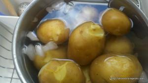 Potato Salad potatoes cooling