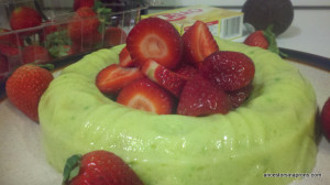 Avocado Strawberry Jell-o Ring