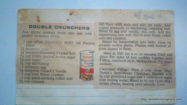 Recipe for sandwich cookie