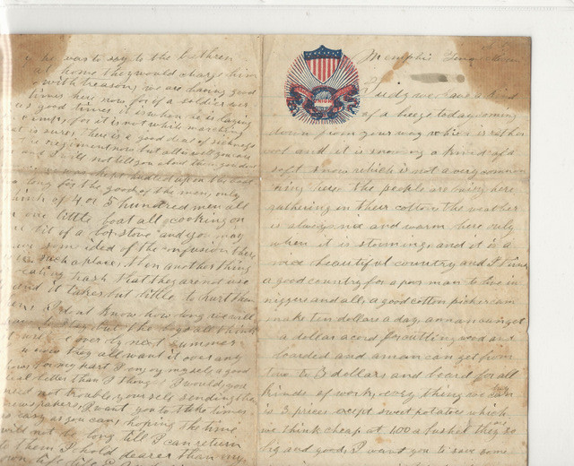 Erasmus Anderson Civil War Letter