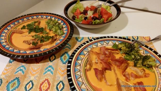 Tomato Rarebit Meal