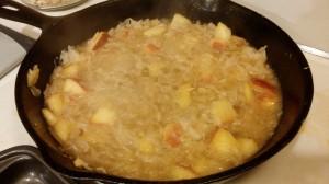 New Year's Day Sauerkraut and Sausage