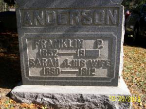 Franklin P. Anderson tombstone