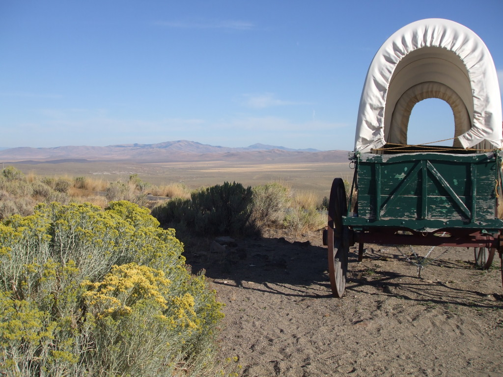 Stagecoach moving west