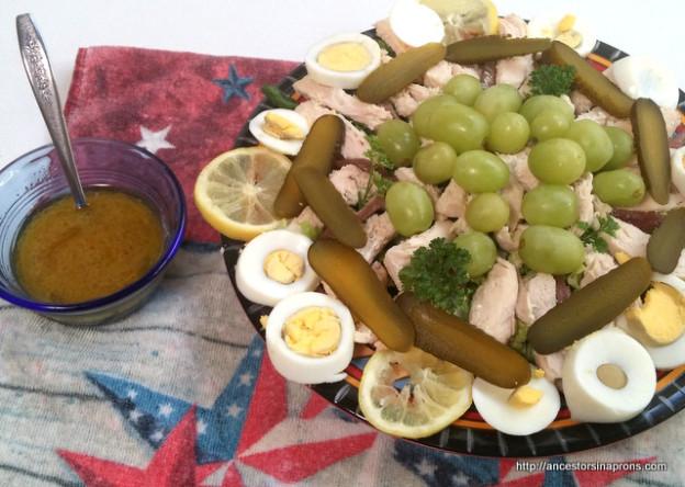 Colonial salad, salmagundi