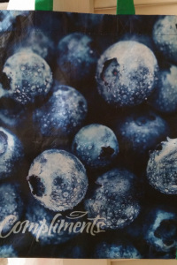 Blueberry grocery bag