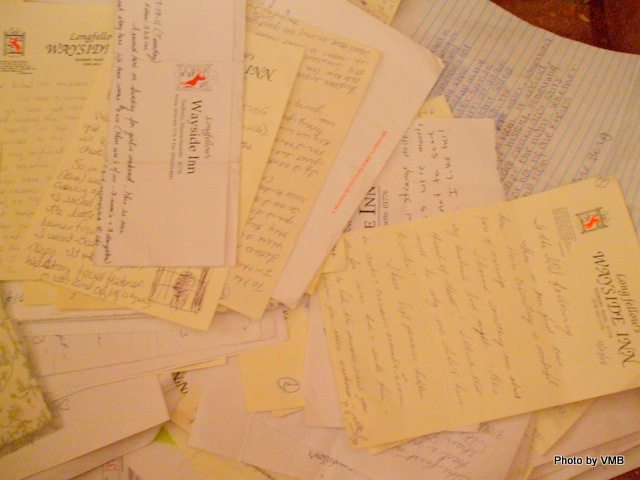 Letters in the secret drawer in Room #9.