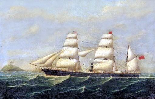 Steam-sail ship