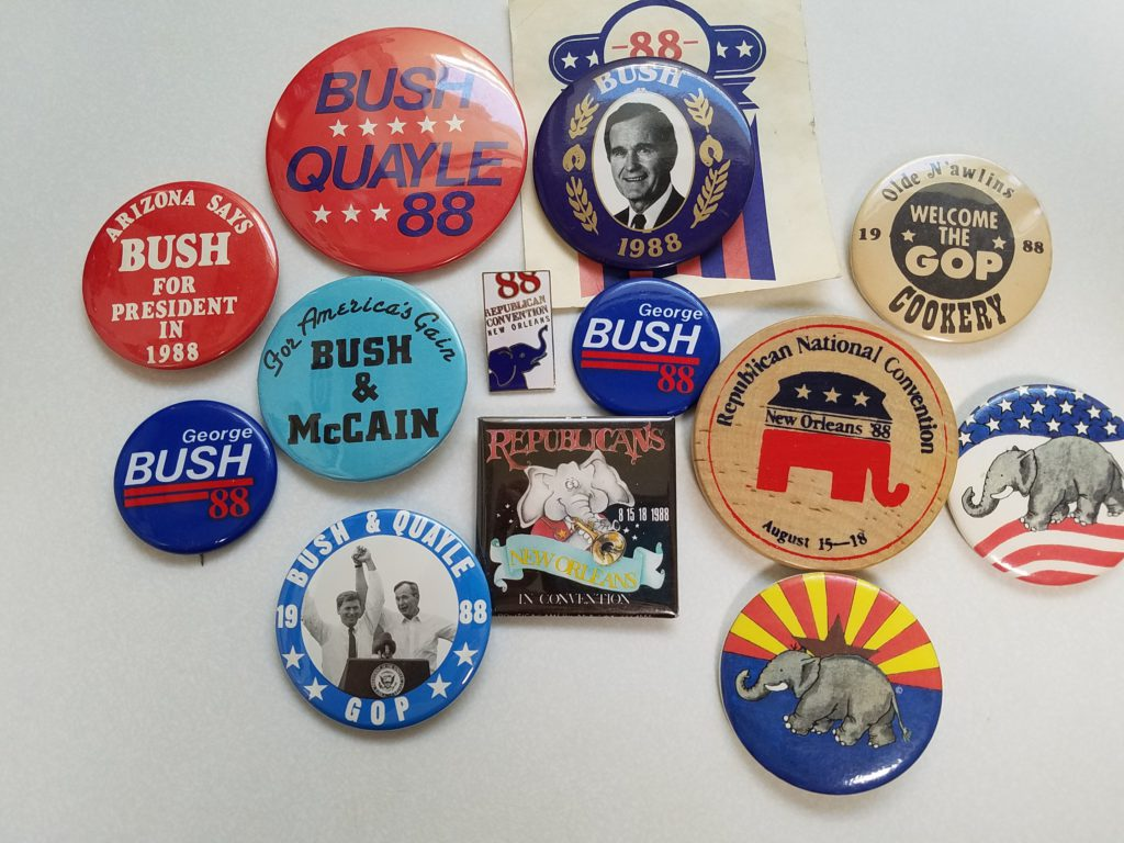 George Bush buttons