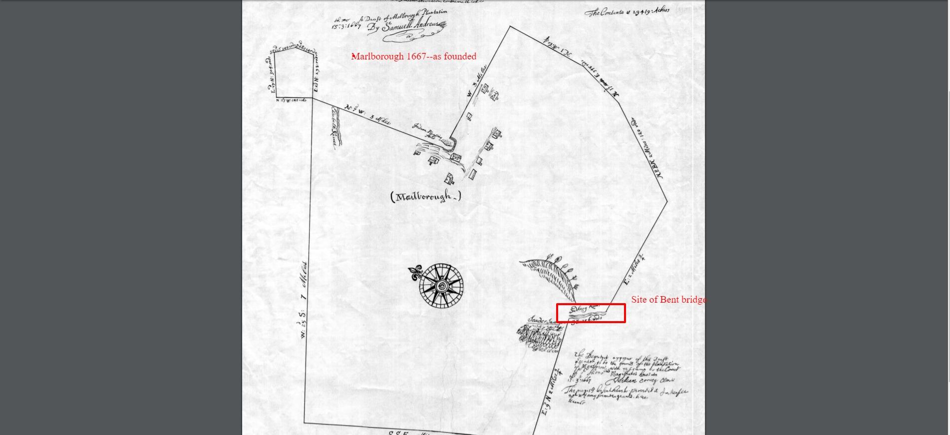 Peter Bent -Marloborough 1667