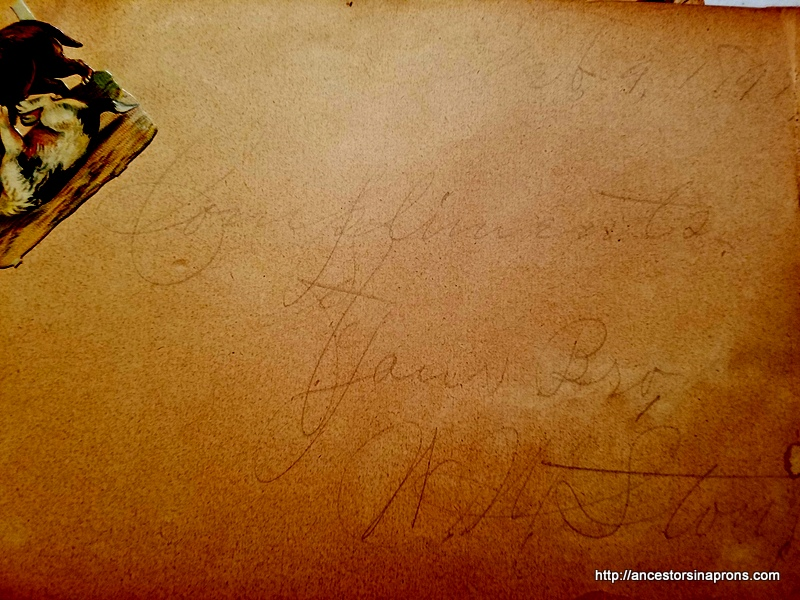 Autograph Book-Brother's signature