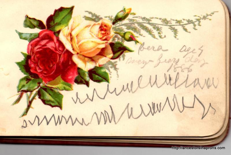 Maud's Autograph book--Vera