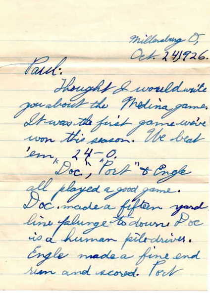 letter from Milton to Paul Kaser