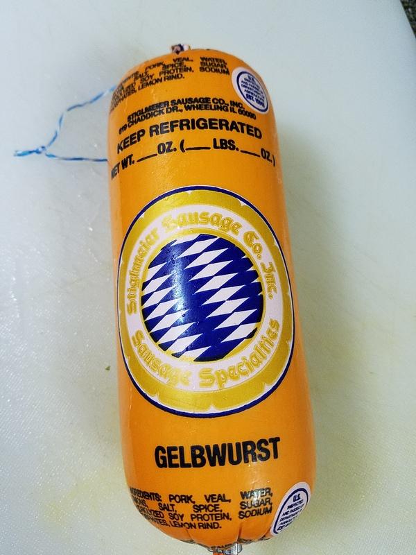 Gelbwurst outside
