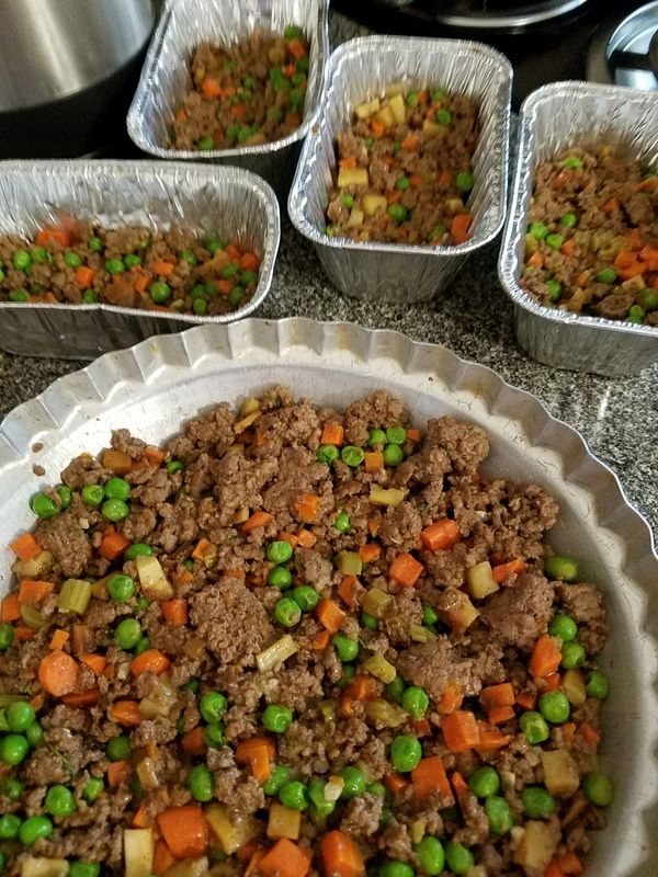 Cottage pie without crust