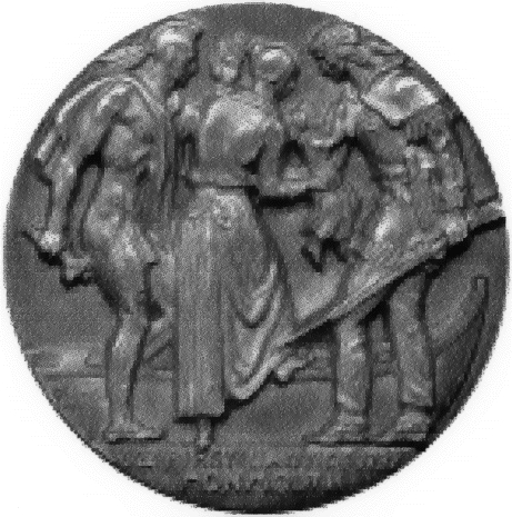 A medal commemorating Penelope Stout as Mother of Middletown New Jersey.
