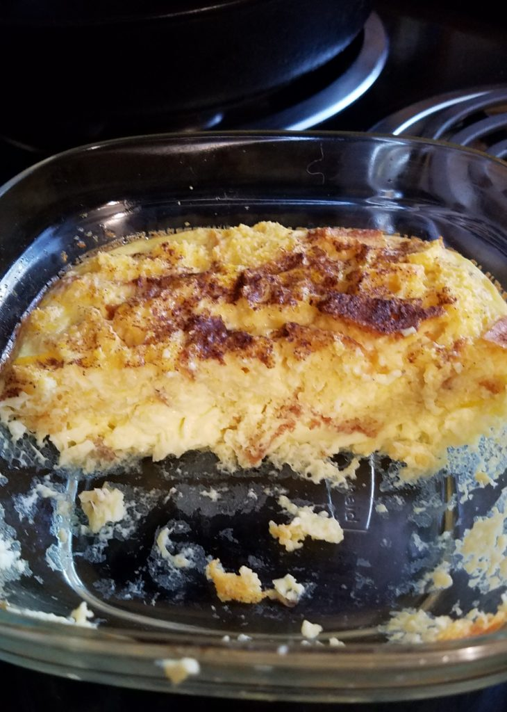 leftover cornbread pudding