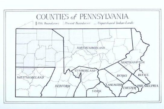 1776 Pennsylvania Counties