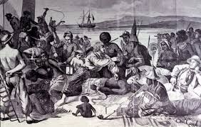 Slave ship on way to America